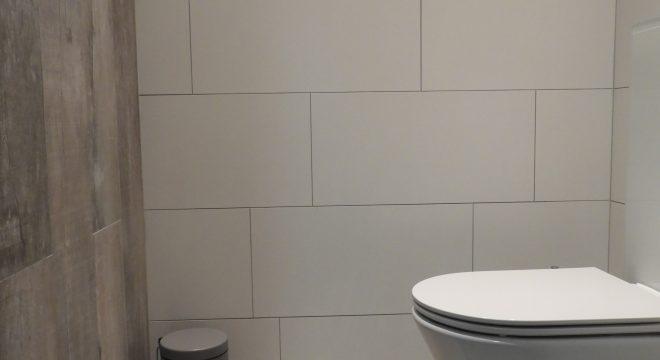 hout en betonlook tegels Warten