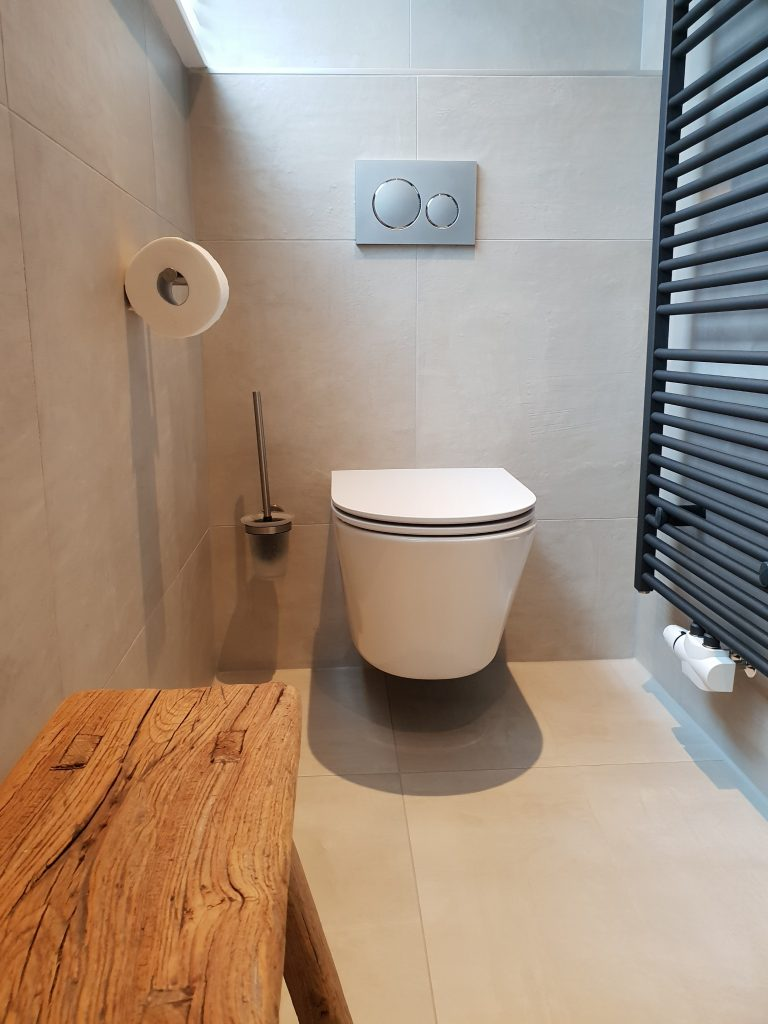 Rimfree toilet in badkamer