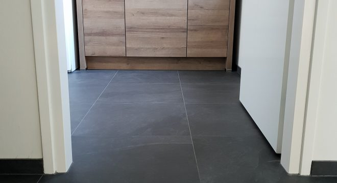 Tegelvloer in de keuken