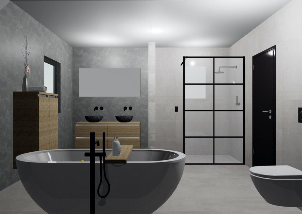 3D Ontwerp badkamer Zijlstra