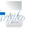 Djazz Amador 100 met spiegel Wit hoogglans