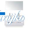 Djazz Amador 120 met spiegel Wit hoogglans twee lades