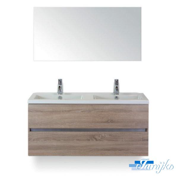 Djazz Lorencio 120 spiegel grijs eiken 2L
