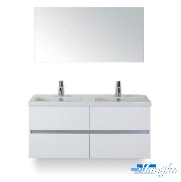 Djazz Lorencio 120 spiegel wit hoogglans 4L