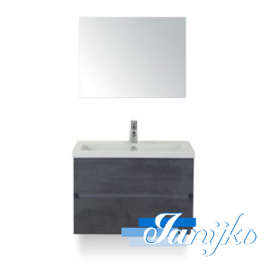 Djazz Lorencio 80 spiegel beton antraciet